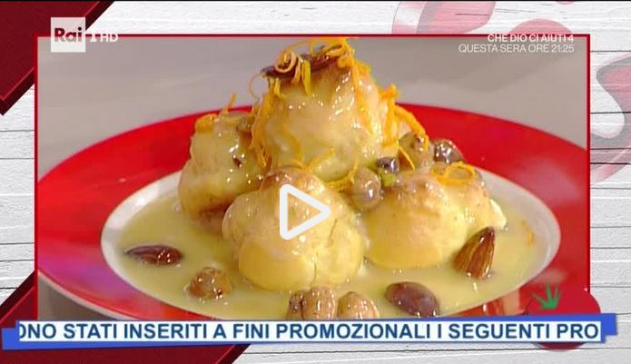 La video ricetta della piramide di bigné al mandarino della Prova del Cuoco