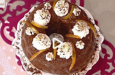 La savarin al cacao e arancia della Prova del cuoco con la video ricetta facile