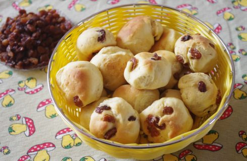 Bottoncini con uvetta preparati con il bimby