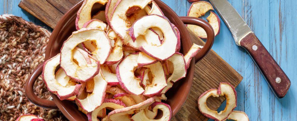 Chips di mele, uno snack salutare