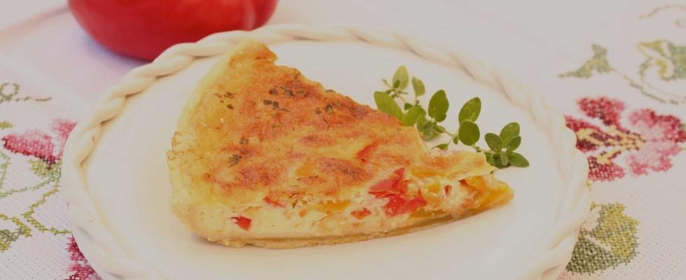 Torta facile ai peperoni con il bimby