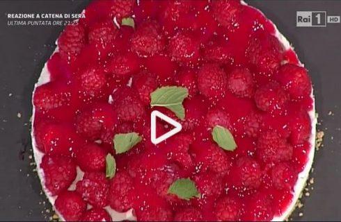 Cheesecake di lamponi e menta della Prova del cuoco: la video ricetta