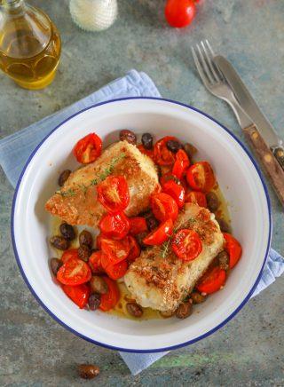 Palombo al forno, una secondo piatto di pesce senza lische