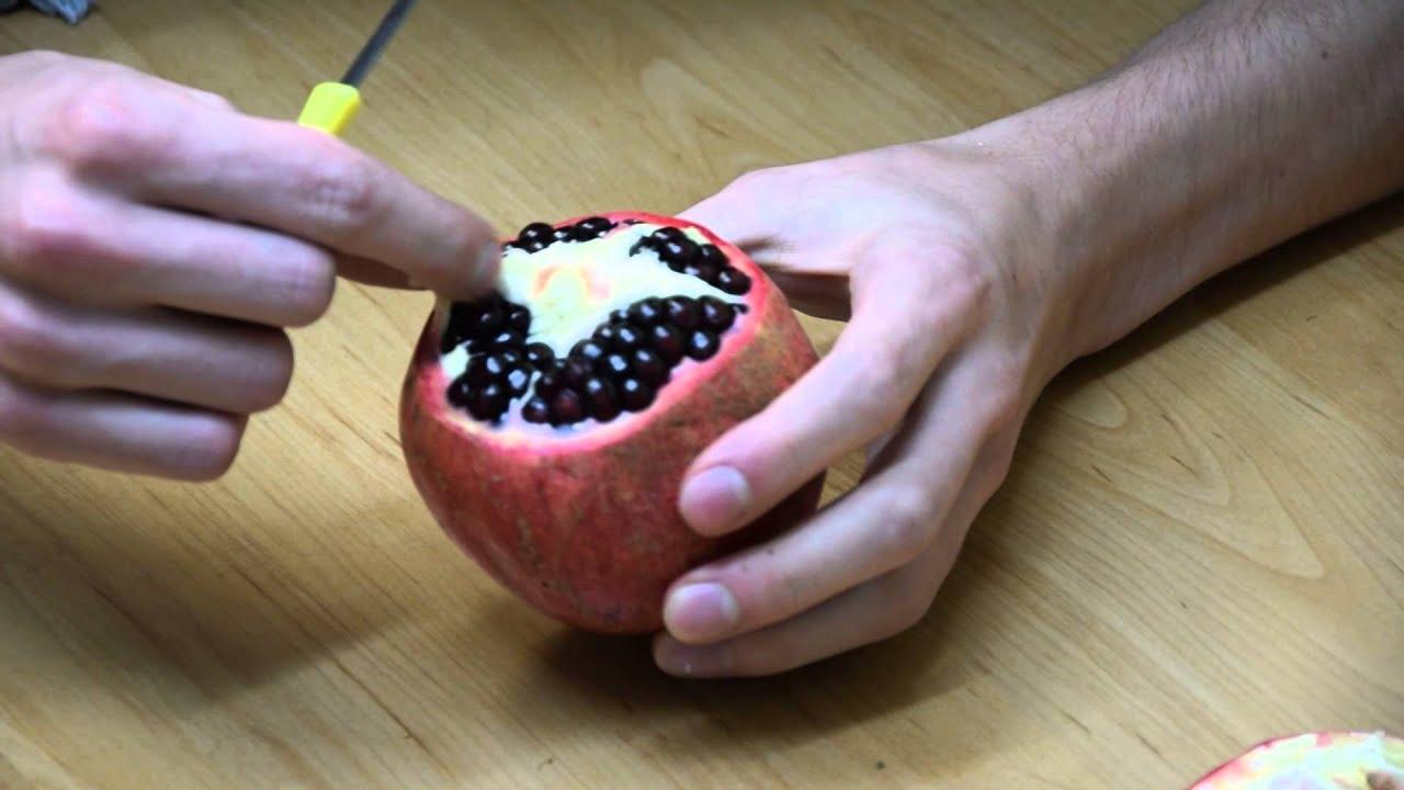 Come sbucciare il melograno