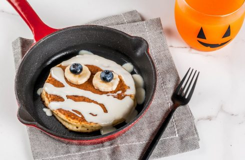 Pancake di Halloween, la ricetta per la colazione mostruosa
