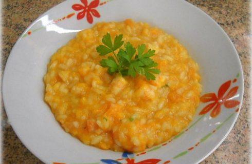 Il risotto alla zucca e gamberi con la ricetta sfiziosa