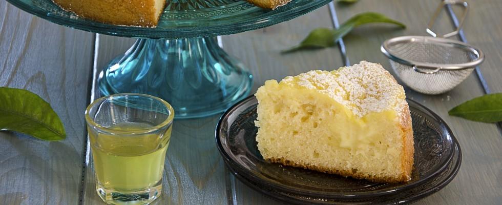 Torta al limoncello, con crema
