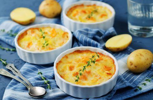 Il tortino con zucca, patate e provola con la ricetta facile e gustosa