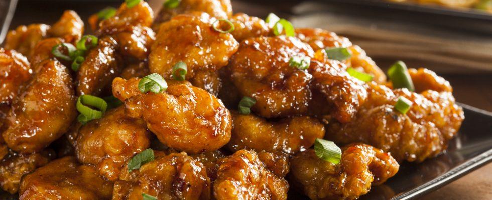 Pollo fritto all'arancia, un classico della cucina cinese