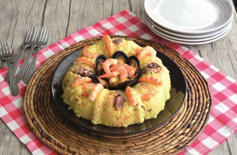 Anello di riso freddo al pesce: con il bimby