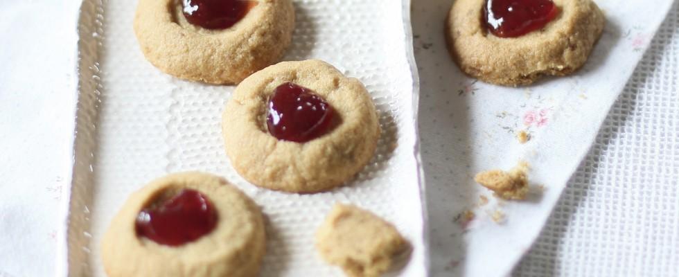 Bimby: biscottini di frolla con confettura di fragole