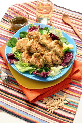 Bimby: crocchette di baccalà ai pinoli con insalata mista