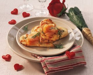 Bimby: cuoricini di pizza con grana e salmone affumicato