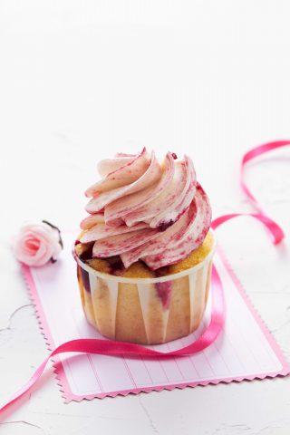 Bimby: cupcake con crema di yogurt al lampone
