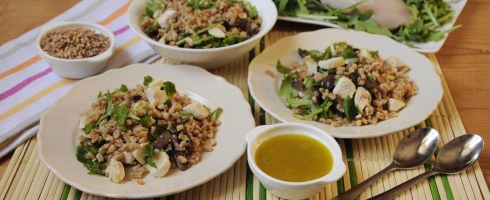 Bimby: farro in insalata con pollo, rucola e limone