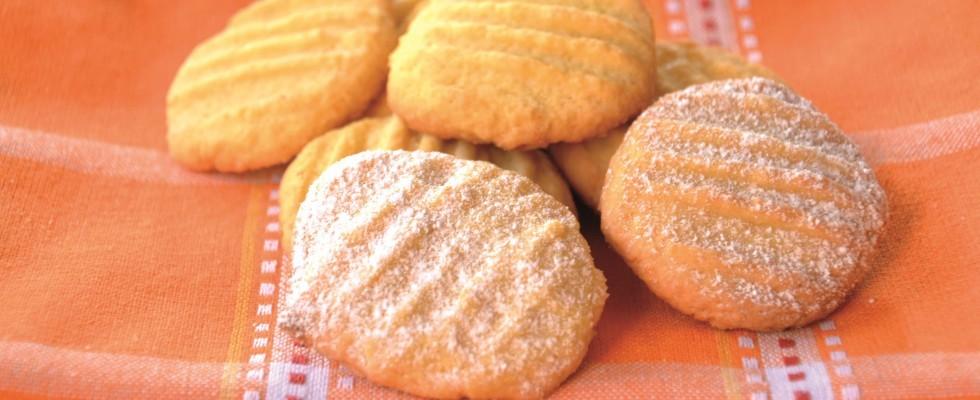 Biscottini gialli, con farina di mais preparati al bimby