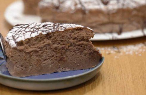 Cheesecake giapponese al cioccolato