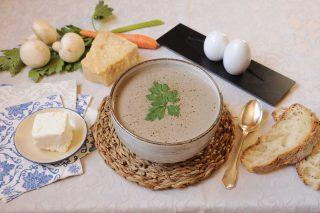 Crema di funghi e formaggio fresco con bimby