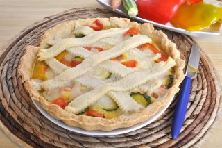 Crostata salata con verdure con bimby