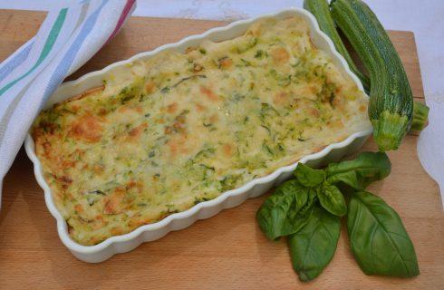 Lasagne di crêpes con stracciatella e zucchine, preparatele con il bimby