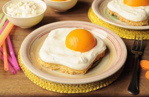 In pasticceria: finte uova al tegame, da fare con il bimby