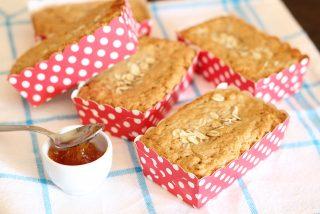 Mini plumcake con farina di avena, perfetti per la colazione