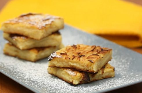 Torta di mele invisibile, sottile e gustosa