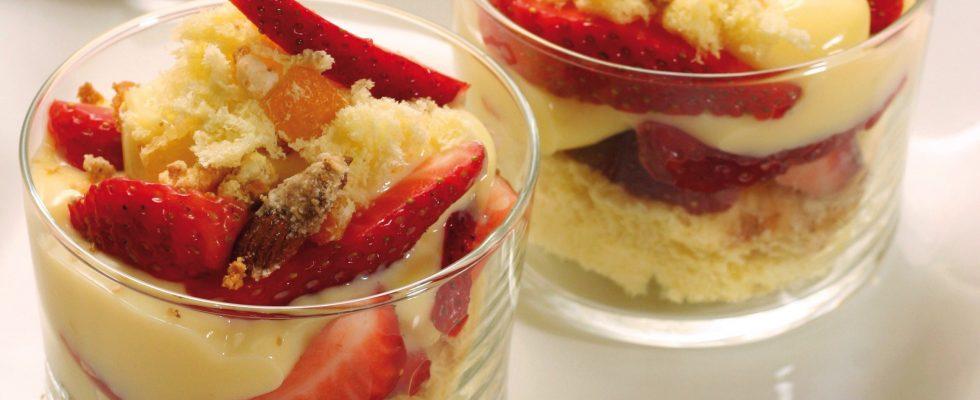 Bimby: bicchieri con fragole e crema al mascarpone