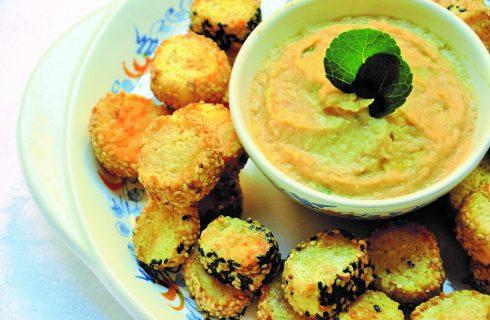 Biscotti al sesamo con mousse di ceci: fatti con il bimby