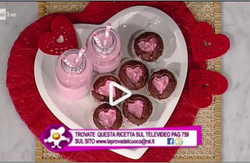 Cupcake dal cuore rosa: la video ricetta della Prova del Cuoco
