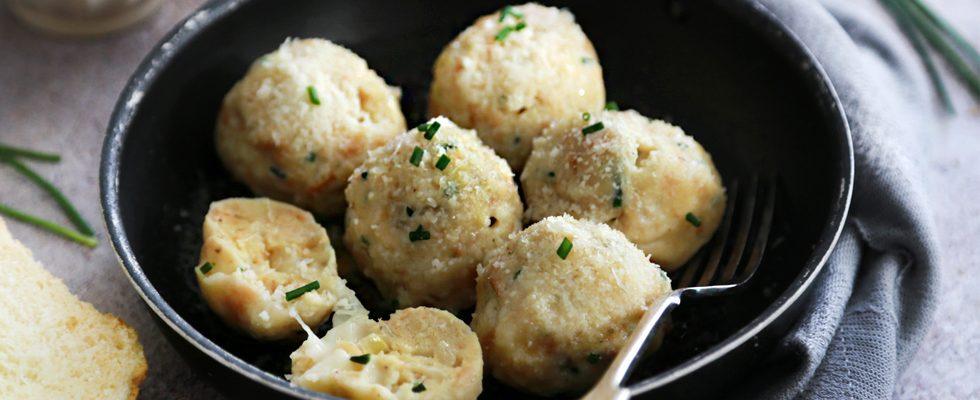 Canederli al formaggio, le polpette di pane tirolesi