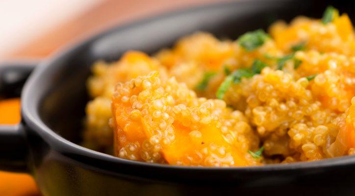 Quinoa con zucca e funghi, la ricetta autunnale