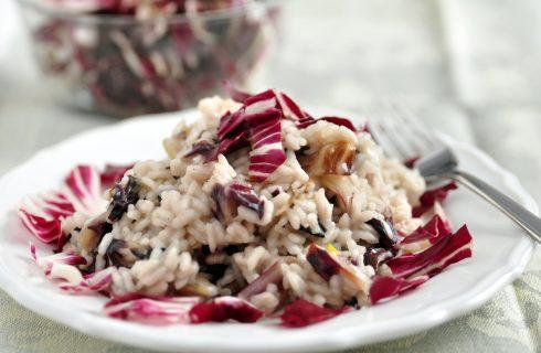 Il risotto con radicchio e gorgonzola per un primo gustoso