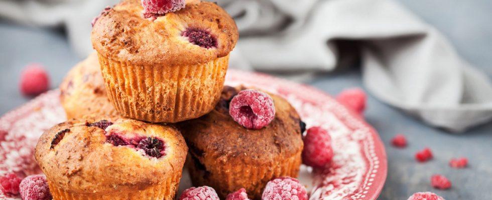 Come fare i muffin ai lamponi senza burro