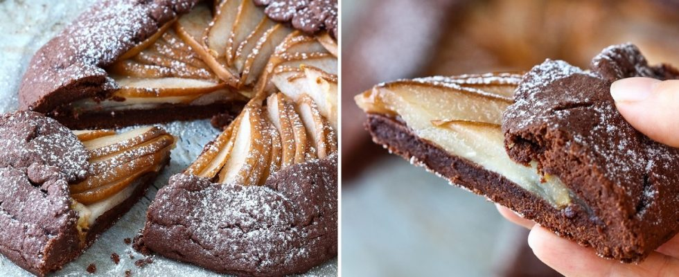 Galette cioccolato e pere, il dolcetto facile per merende golose