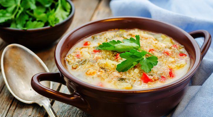 La zuppa di quinoa con la ricetta peruviana