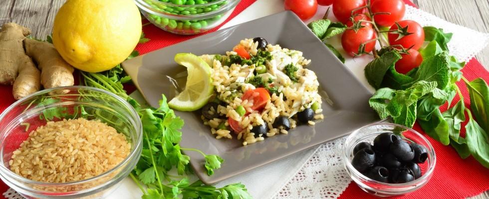 Per l'estate: insalata di riso integrale con gallinella da fare con il bimby