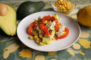 Bimby: una insalata esotica di pollo e avocado