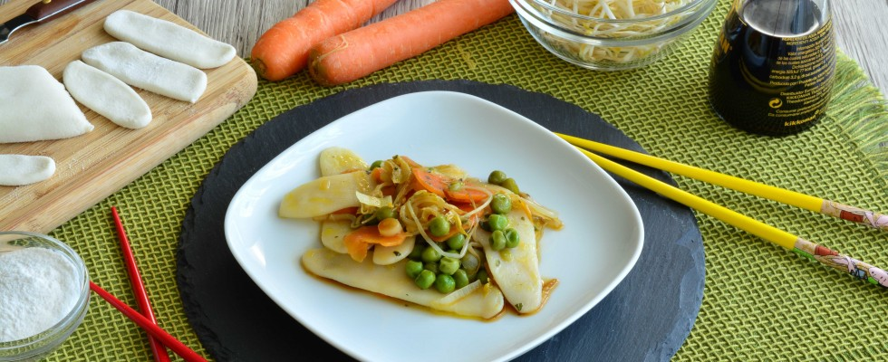 Bimby: gli gnocchi cinesi con germogli di soia e carote