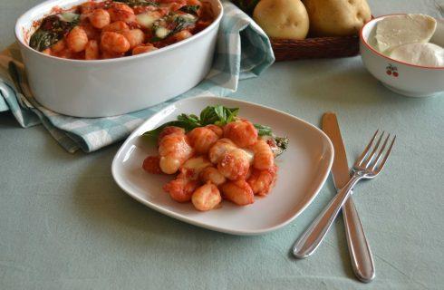 Bimby: gli gnocchi pomodoro e mozzarella al forno