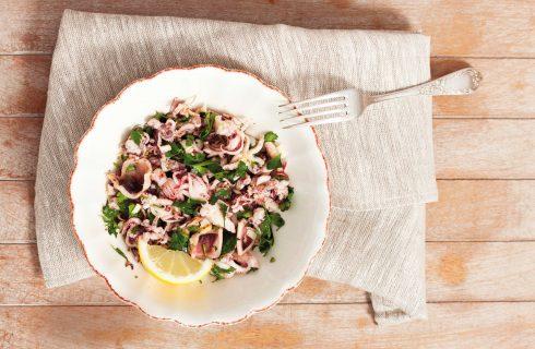 Bimby: l'insalata di polpo marinato con aglio e prezzemolo