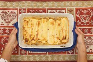 Cannelloni patate e gamberi, per un menu raffinato