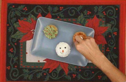 Cupcake delle feste: finger food salati per la tavola di Natale