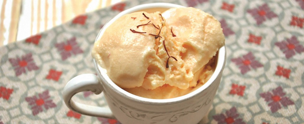 Raffinato: il gelato allo zafferano da fare con il bimby