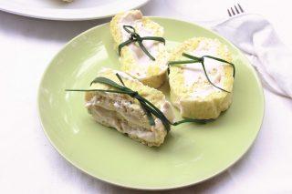 Girelle salate al salmone e ricotta da fare con il bimby per l'aperitivo