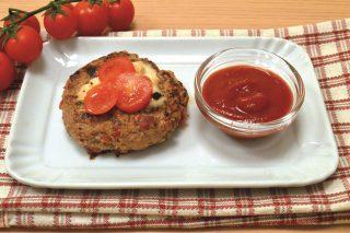 Cena gustosa: hamburger pomodoro e mozzarella con il bimby