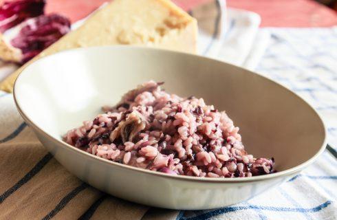 Il risotto con radicchio e noci con la ricetta facile