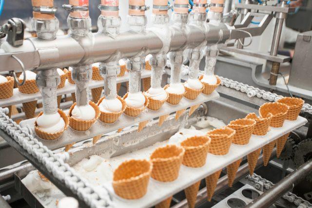 produzione del gelato