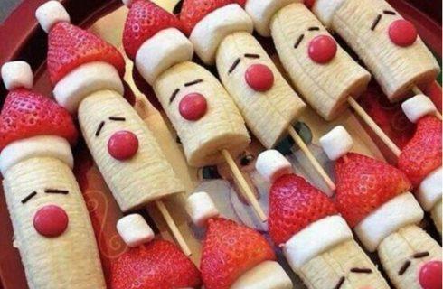 La video ricetta degli spiedini di frutta natalizi della Prova del cuoco