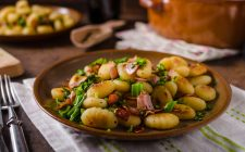 Fried homemade gnocchi